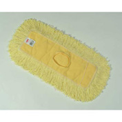 "Rubbermaid® Trapper 18"" x 5"" Looped-End Launderable Commercial Dust Mop, Yellow - RCPJ15200YEL - Pkg Qty 12"