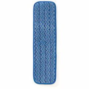 "Rubbermaid® HYGEN™ 18"" Microfiber Damp Room Mop - Blue - Pkg Qty 12"