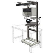 """Electronic Multi-purpose Stand - 32""""Wx27""""Dx85""""H Light Gray"""