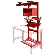 "Electronic Multi-purpose Stand - 32""Wx27""Dx85""H Red"