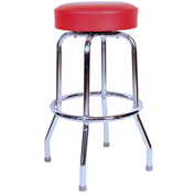 "Richardson Seating Swivel Barstool - 24""H - Red"
