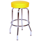 "Richardson Seating Swivel Barstool - 24""H - Yellow"