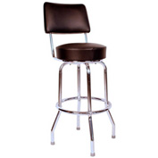 "Richardson Seating Swivel Barstool with Backrest - 30""H - Black"