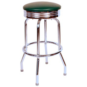 "Richardson Seating Retro Swivel Barstool - 24""H - Green"