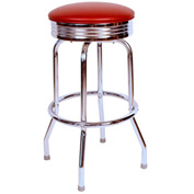 "Richardson Seating Retro Swivel Barstool - 30""H - Wine"