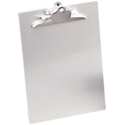 "Saunders Recycled Aluminum Clipboard with Antimicrobial Protection, 8-1/2"" x 12"", Silver"