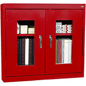 "Sandusky Clear View Wall Cabinet WA2V361230-01 - 36""W x 12""D x 30""H Red"