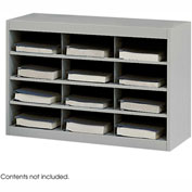 12 Compartment Steel Project Organizer - Gray