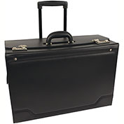 Stebco 341626 Synthetic Leather Business Case On Wheels, Black