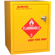 "6 Gallon, Bench Flammable Cabinet, Self-Closing, 16-3/4""W x 15-3/4""D x 21-1/4""H"