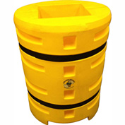 "Column Sentry® Column Protector, 14""x 14"" Square Opening, 33"" O.D. x 42""H, Yellow"