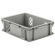 "SSI Schaefer Euro-Fix Mesh Container EF4123 - 16"" x 12"" x 5"", Gray"