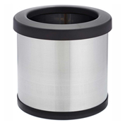 Shop-Can® 4 Gallon Stainless Steel Waste Container with Open Lid - 11305-00