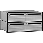 "Salsbury Data Distribution System Aluminum Box 2404 - 23-1/2""W x 15-1/2""D x 12-1/8""H, 4 Doors"