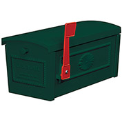 Salsbury Townhouse Mailbox 4550GRN - Post Style, Green