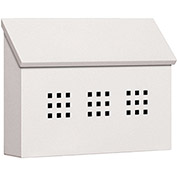 Salsbury Traditional Mailbox 4615WHT - Surface Mounted Decorative, Horizontal Style, White