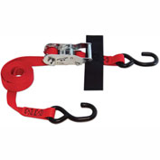 "Snap-Loc® SLTHS108RR S-Hook Strap 1""X8' Ratchet Red With Hook & Loop Storage Fastener"