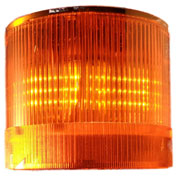 Springer Controls / Texelco LA-43-24 70mm Stack Light, TriFunction (S,F,R), 24V AC/DC LED - Amber
