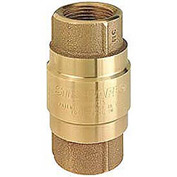 "2"" FNPT Brass Check Valve with Buna-S Rubber Poppet"