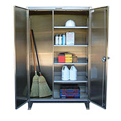 Strong Hold® Heavy Duty Closet Cabinet 55-BC-243-SS - Stainless Steel 60 x 24 x 66