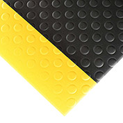 "NoTrax Bubble Sof-Tred 1/2"" Thick Safety-Anti-Fatigue Floor Mat, 2' x 3' Black/Yellow"