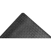 "Akro Diamond-Tuff 9/16"" Thick Anti-Fatigue/Anti-Slip Classic Floor Mat, 3' x 75' Black"
