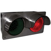 Tapco® 108982 LED Traffic Controller Signal, Horizontal, Red/Green, Wall Mount, 120V