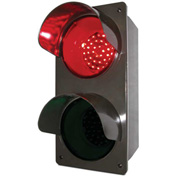 Tapco® 108983 LED Traffic Controller Signal, Vertical, Red/Green, Wall Mount, 120V