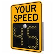 """Tapco® Safe Pace 475, 18"""" Radar Feedback Sign, AC Powered, Yellow, 129870"""