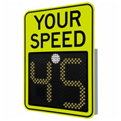 """Tapco® Safe Pace 475, 18"""" Radar Feedback Sign,  AC Powered, Yellow Green, 129873"""