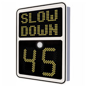 """Tapco® Safe Pace 600, 15"""" Radar Feedback Variable Message Sign,  Solar Powered, White, 129883"""