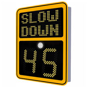 """Tapco® Safe Pace 600, 15"""" Radar Feedback Variable Message Sign, AC Powered, Yellow, 129884"""