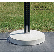 "Tapco® 70 lbs. Concrete Porta Base with Nub, 18"" Diameter, White (Post Not Included)"
