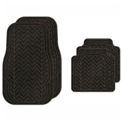 Waterhog Car Mats with Chevron Pattern, Medium, Charcoal, Full Set of 4 - 3903540002070