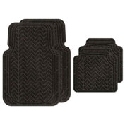 Waterhog Car Mats with Chevron Pattern, Large, Charcoal, Full Set of 4 - 3904540002070