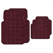 Waterhog Car Mats with PawPrint Pattern, Large, Bordeaux, Full Set of 4 - 3908600002070