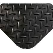 "Wearwell 414 Diamond Plate Diamond Plate Ergonomic Mat 24"" X 3' X 15/16"" Black/None"