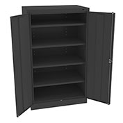 "Tennsco Standard Storage Cabinet 6024 03  - Welded 36""W X 24""D X 60""H, Black"