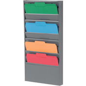 10 Pockets - Medical Chart Hanging Wall File Holder - Gray
