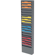20 Pockets - Medical Chart Hanging Wall File Holder - Gray