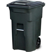Toter Heavy Duty Two-Wheel Trash Cart, 64 Gallon Greenstone - ANA64-GNS
