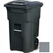 Toter Heavy Duty Two-Wheel Trash Cart, 64 Gallon Graystone - ANA64-00GST