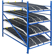 "UNEX Additional Level For Gravity Flow Roller Rack with Wheel Bed 48""W x 72""D"