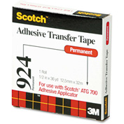 """Scotch® Adhesive Transfer Tape, 1/2"""" Wide x 36yds"""