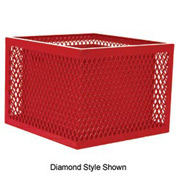 Square UltraCoat Outdoor Planter, Perforated - Red