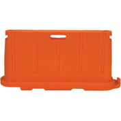 "Vestil Stackable Safety Poly Barricade, 76-1/2""L, Orange"
