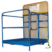 """Work Platform - Single Side Door Entry with Casters - 48""""W x 48""""L"""