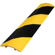 """Vestil Extruded Aluminum Hose & Cable Crossover, Yellow/Black, 60"""" x 21-1/8"""" x 3-9/16"""""""