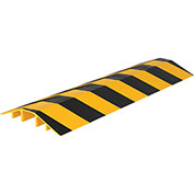 """Vestil Extruded Aluminum Hose & Cable Crossover, Yellow/Black, 72"""" x 21-1/8"""" x 3-9/16"""""""