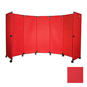 Portable Mobile Room Divider, 10' Red